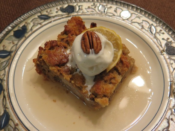Pumpkin Bread Pudding with Lemon Sauce - 1 -  IMG_0795_1