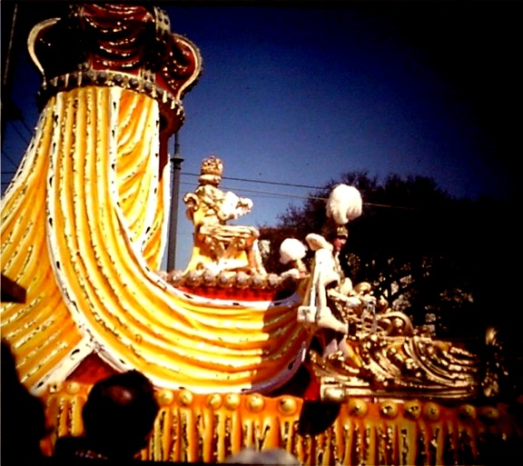 King Rex on Mardi Gras float