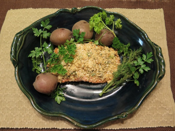 Salmon with Mustard and Quinoa Crust - 1 - IMG_2357