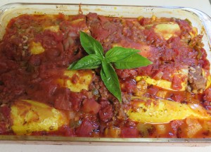 casserole of Lebanese-Inspired Baked Yellow Squash - IMG_6140_1