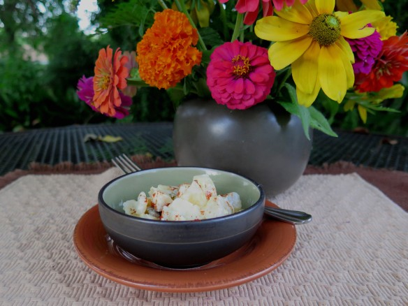 Potato Salad in Bowl with flowers - IMG_6102_1