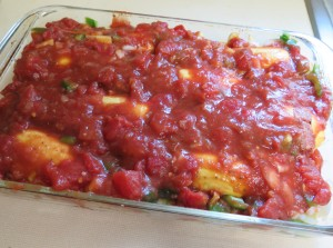 yellow squash with tomato sauce ready for oven - IMG_6125_1