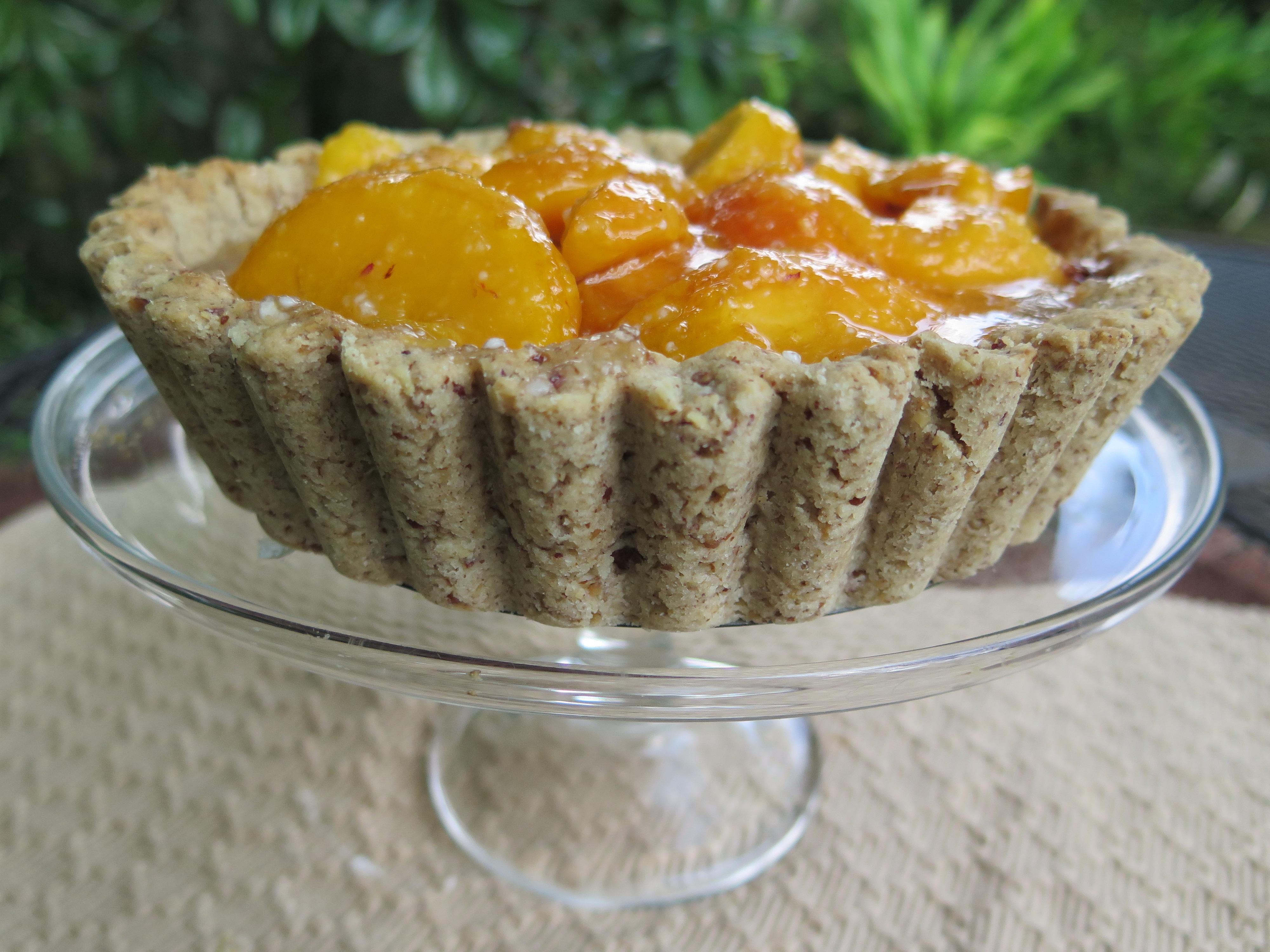 Peach Shortbread Tart   beyondgumbo