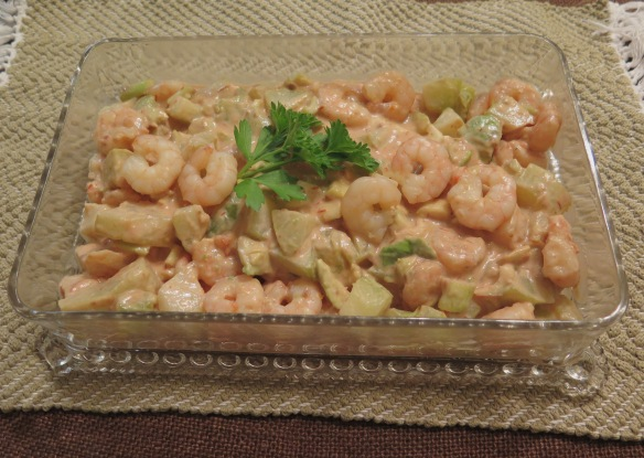 Easy Shrimp Remaulade with Mirliton and Avocado - IMG_0528
