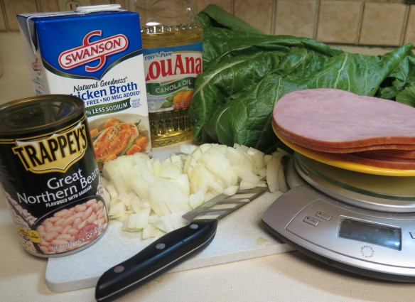 Ingredients for Mustard Green and Ham Soup - IMG_1367_1