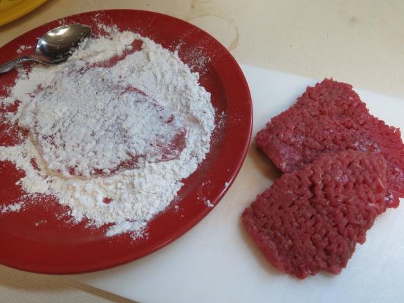 Breading round steak - IMG_2205