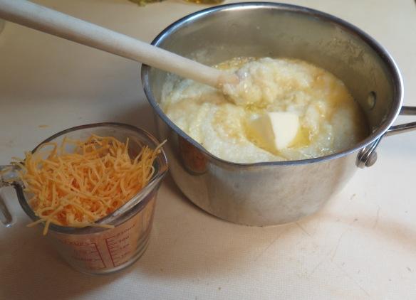 making grits - adding ingredients - IMG_1438