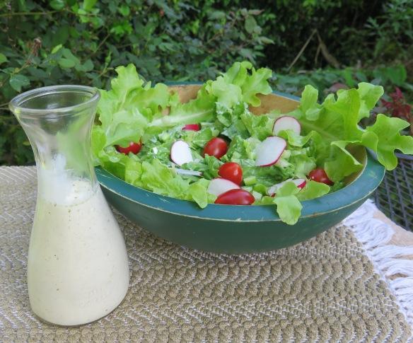Creamy Buttermilk Dressing on Lettuce Greens - IMG_2782