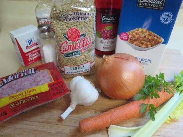 Ingredients for Lentil Soup - IMG_2608