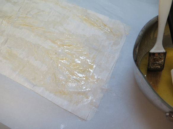 phyllo dough with margarine - IMG_3135