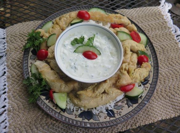 Chicken and Cucumber-Yogurt Sauce - 2 - IMG_4123