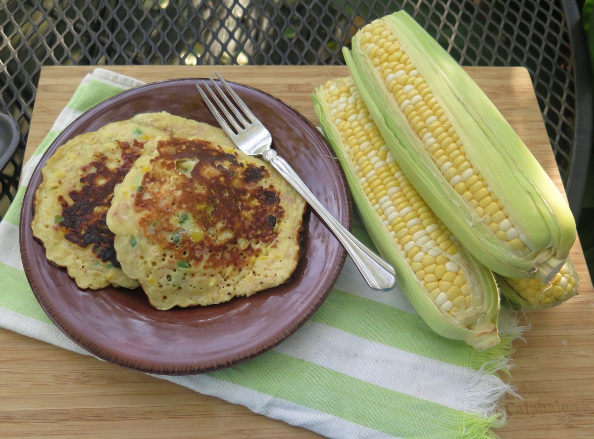 Memories of an Iowa Farm: Savory Ham and Corn Pancakes | beyondgumbo