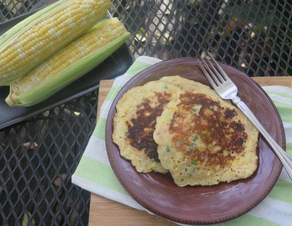 Savory Corn Pancakes - 3 - IMG_4458