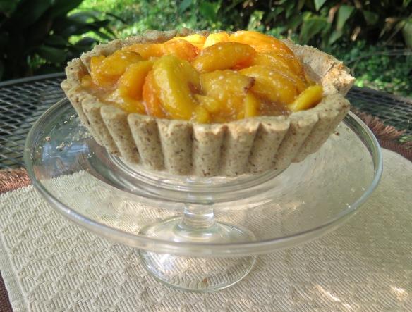 Peach Shortbread Tart - fluted crust - 3 - IMG_6415