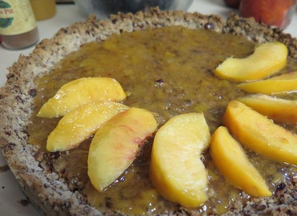Peaches in shortbread crust - IMG_6898