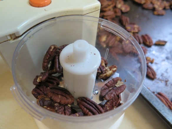 Toasted Pecans - in food chopper - IMG_6890