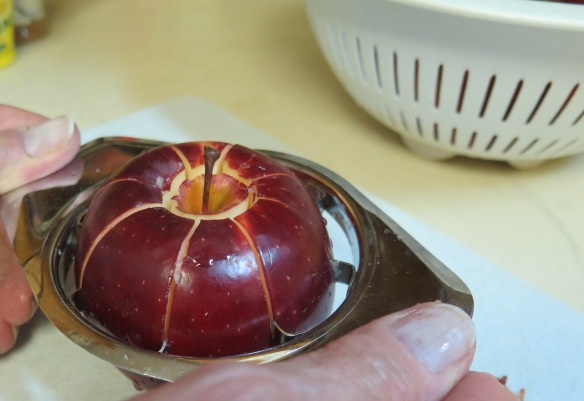 Slicing and Coring Apples - IMG_5536