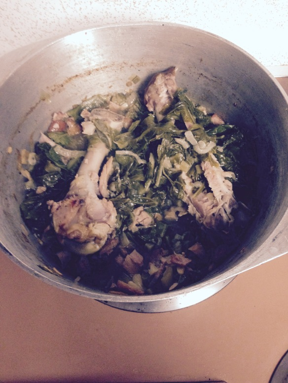 Mustard Greens Cooked Down with Turkey Bones added - FullSizeRender (6)