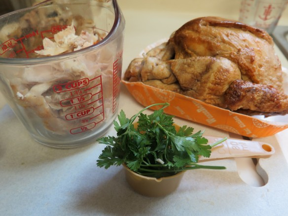 Parsley and chopped de-boned chicken - IMG_5804_1