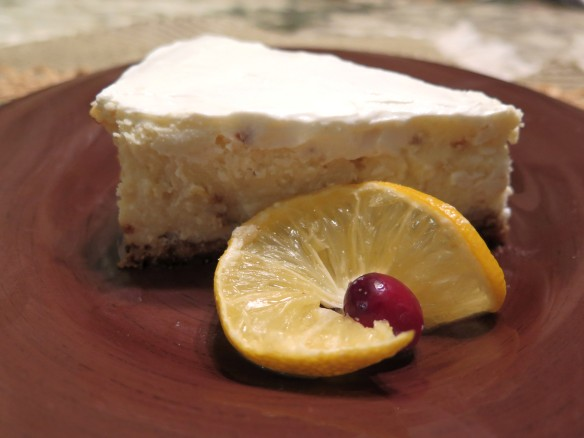 Lusious Lemon Ricotta Cheesecake - slice 2- IMG_7096_1