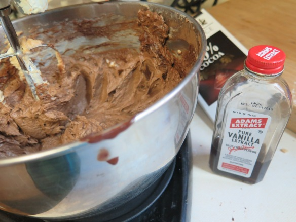 Add chocolate, cocoa and vanilla extract - IMG_7259