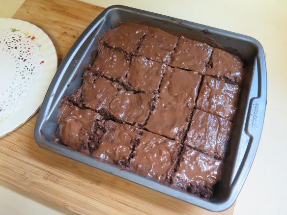 Glazed and cut Walnut Toffee Brownies - IMG_7268