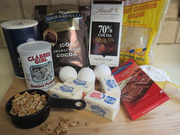 Ingredients for Walnut Toffee Brownies - IMG_7255