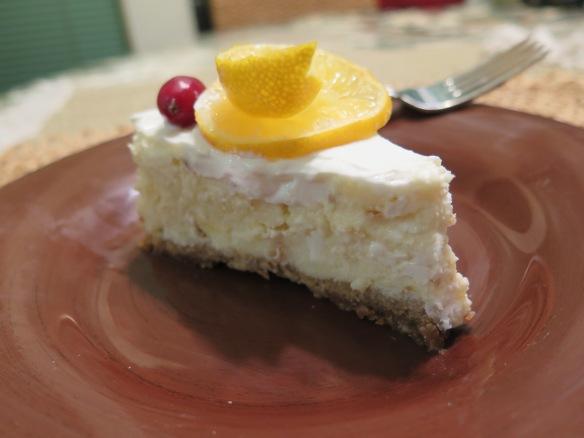 Luscious Lemon Ricotta Cheesecake Slice - IMG_7105
