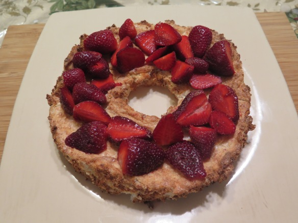 Angel Food Cake and Fresh Strawberries