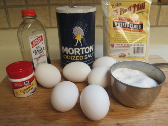 Ingredients for Angel Food Cake with Potato Flour
