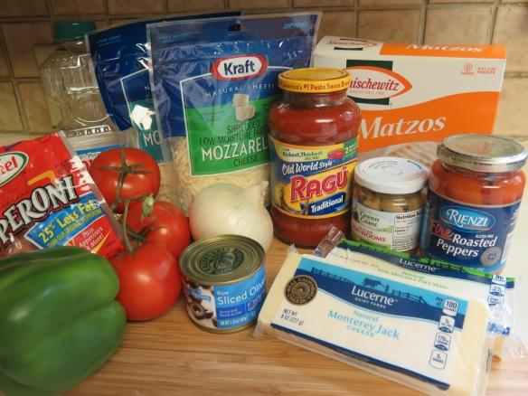 Matzo Pizza Ingredients