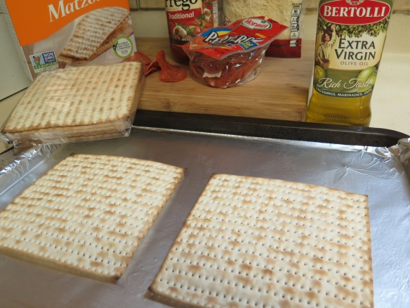 Place Matzo on baking sheet - IMG_8659