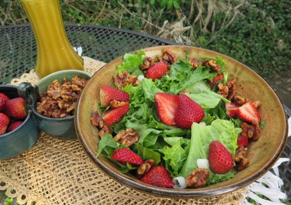 Salted Wantus and Strawberries with Honey Citrus Dressing - IMG_8310