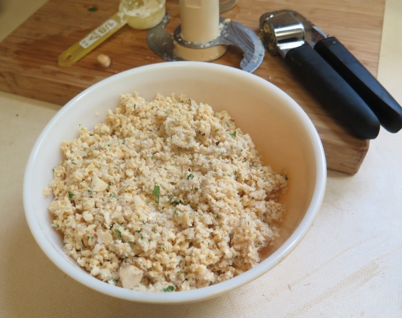 Chickpeas processed in food processor - IMG_8931