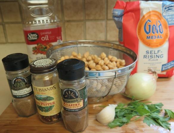 Ingredients for Falafel
