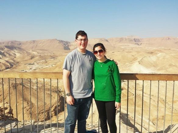 Caroline and Friend at Masada Mountain - IMG_1662