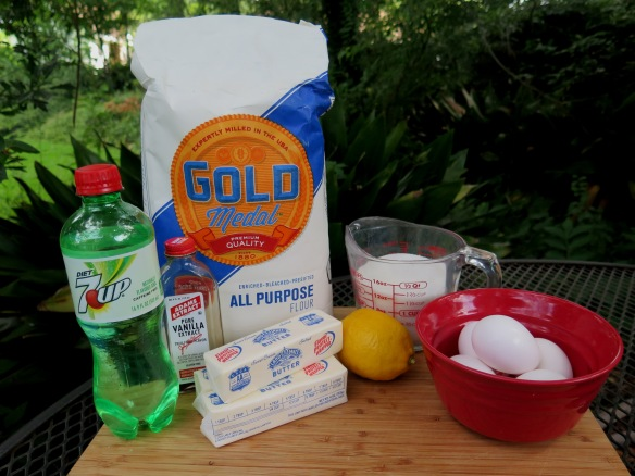 Ingredients for 7-Up Pound Cake - IMG_9798