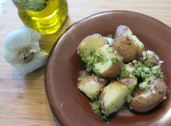 New Red Potatoes and Basil Pesto