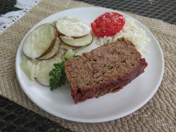 Old Fashioned Meatloaf with Potatoes and Coleslaw - IMG_0120