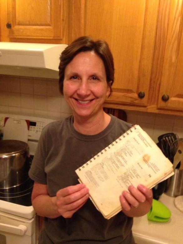 Margaret Sprunger and cookbook