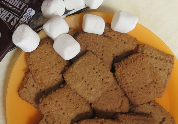 ingredients-for-smores-with-homemade-graham-crackers