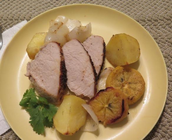 pork-loin-witih-louisiana-persimmons-potatoes-and-onions